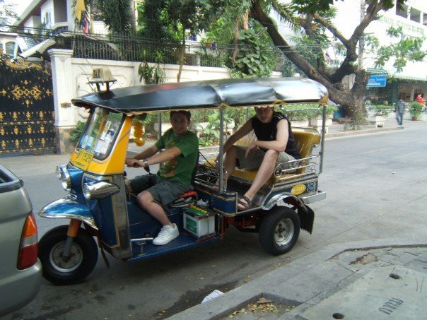 Me and my mate Dave in Bangkok - recovering from depression in 2007
