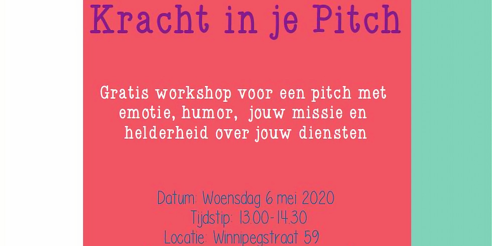 Kracht in je Pitch