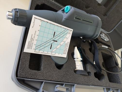 Zerstörungsfreie Druckfestigkeitsprüfung mit dem Rückprallhammer