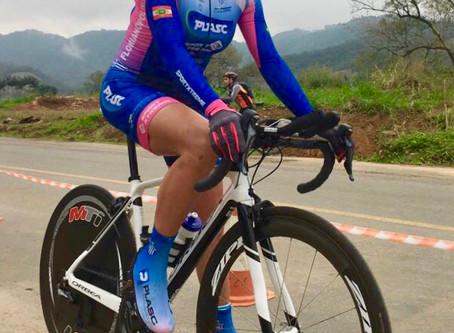 Campeã Contra Relógio Individual e Geral da 4a Volta de Jaraguá de ciclismo 2018
