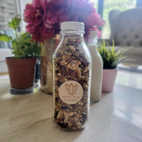 nutty granola breakfast