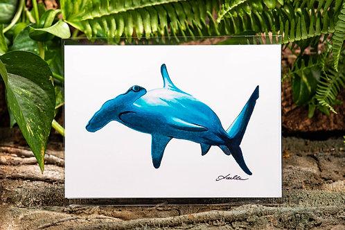 Hammerhead Shark Small 5x7 Print