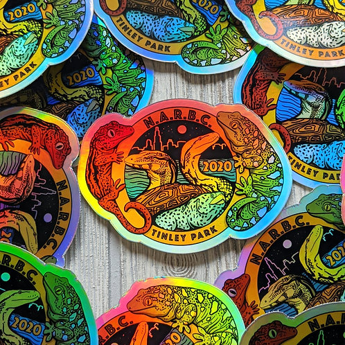 NARBC Tinley Park 2020 Holographic Sticker