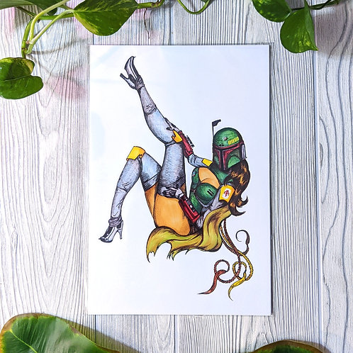 Miss Fett Medium 8x12 Print