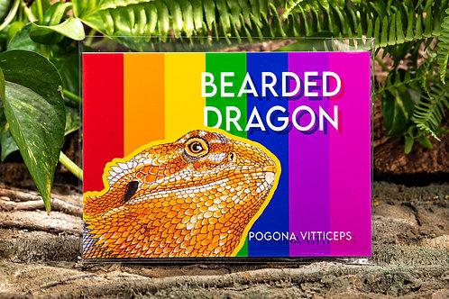 Bearded Dragon Rainbow Metallic Small 5x7 Print