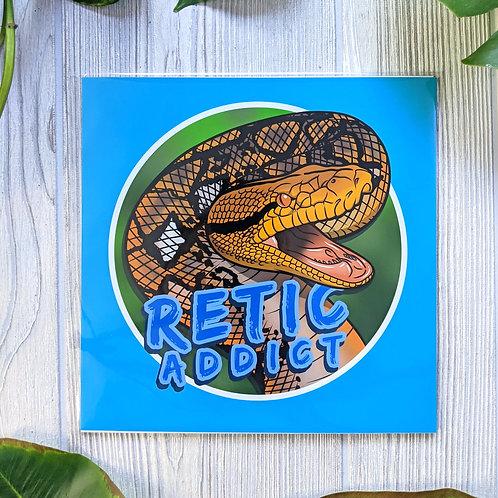Retic Addict 8x8 Medium Square Print