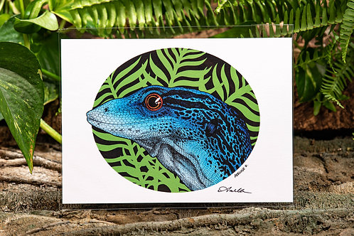 Varanus Macraei Color Small 5x7 Metallic Print