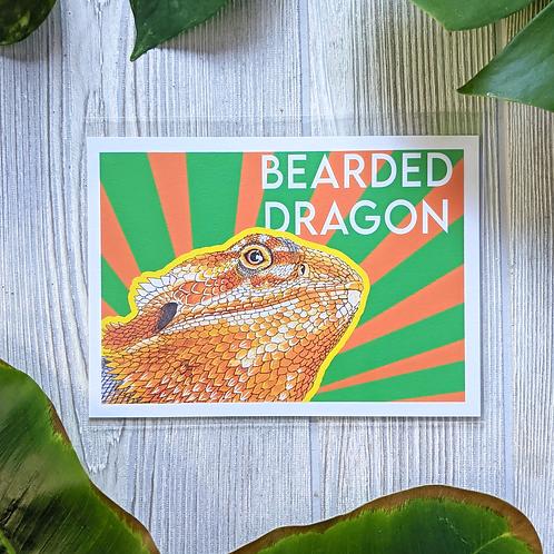 Bearded Dragon Color 5x7 Small Print