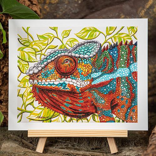 Panther Chameleon Medium 8x10 Print