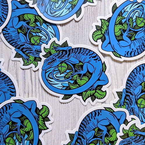 Blue Tree Monitor Sticker