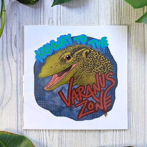 Varanus Zone 8x8 Medium Square Print