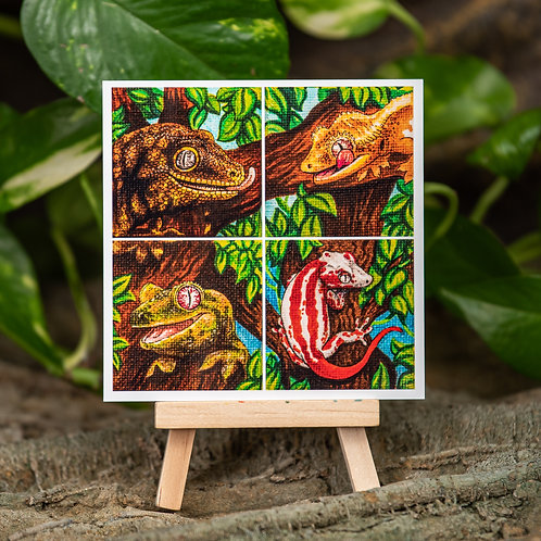 New Caledonian mini set 4x4 Metallic Print