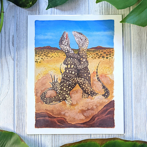 Fighting Perentie Monitors Medium 8x10 Prints
