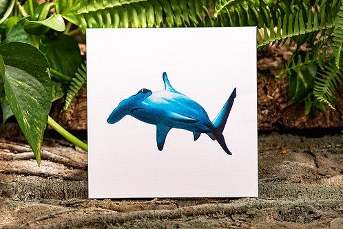 Hammerhead Shark Small 5.5x5.5 Square Print