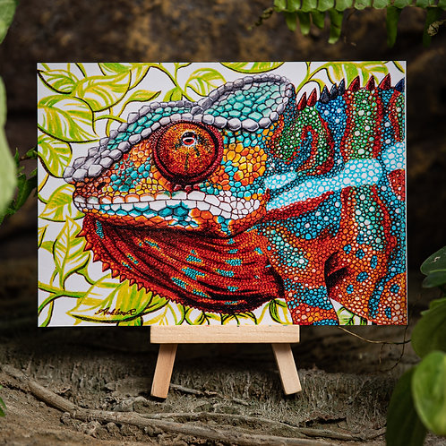 Panther Chameleon Metallic Small 5x7 Print