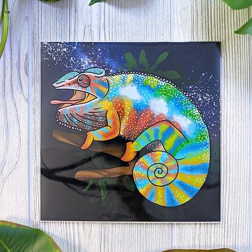 Panther Chameleon Metallic 8x8 Medium Square Print