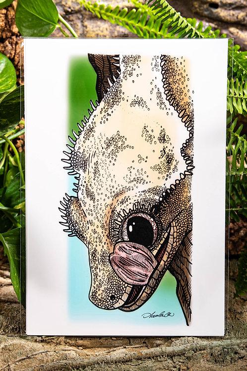 Crested Gecko Lick Medium 8x12 Print