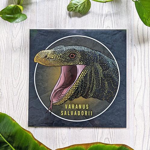 Varanus salvadorii Large 10x10 Square Print