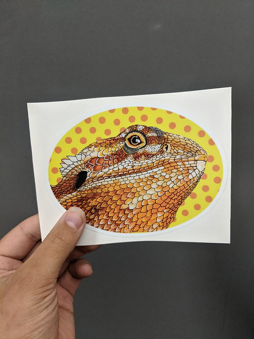 Die Cut Bearded Dragon Sticker 3.75x4.5