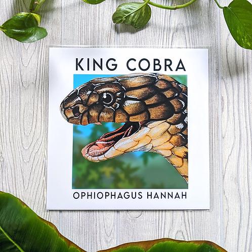 King Cobra with name 10x10 Large Square Print