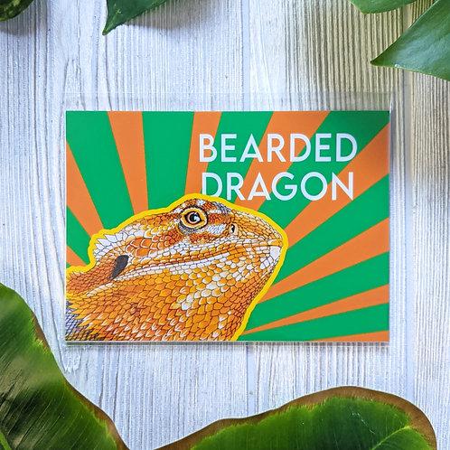 Bearded Dragon Metallic Small 5x7 Print