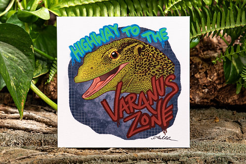 Varanus Zone Small 5.5x5.5 Square Print