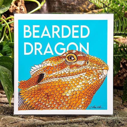 Bearded Dragon Medium 8x8 Square Print