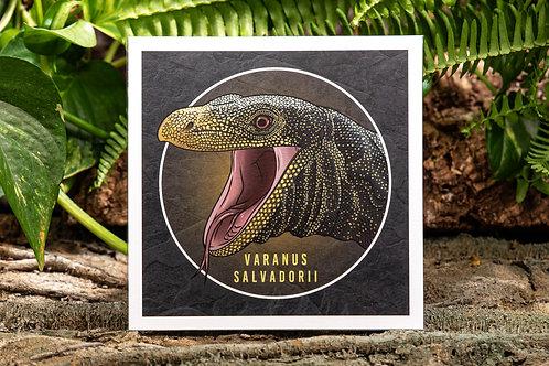 Varanus salvadorii Small 5.5x5.5 Square Print