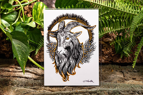 Black Phillip Gold Small 5x7 Print