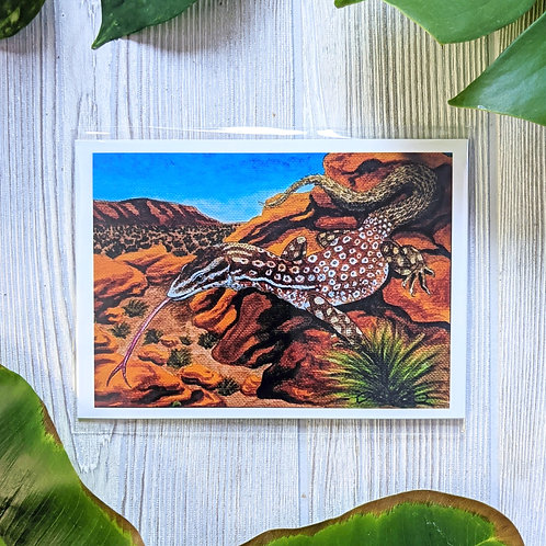 Red Ackie Monitor Small 5x7 Print