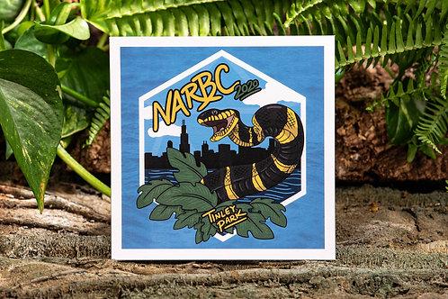 NARBC Tinley Park Mangrove Snake Small 5.5x5.5 Square Print