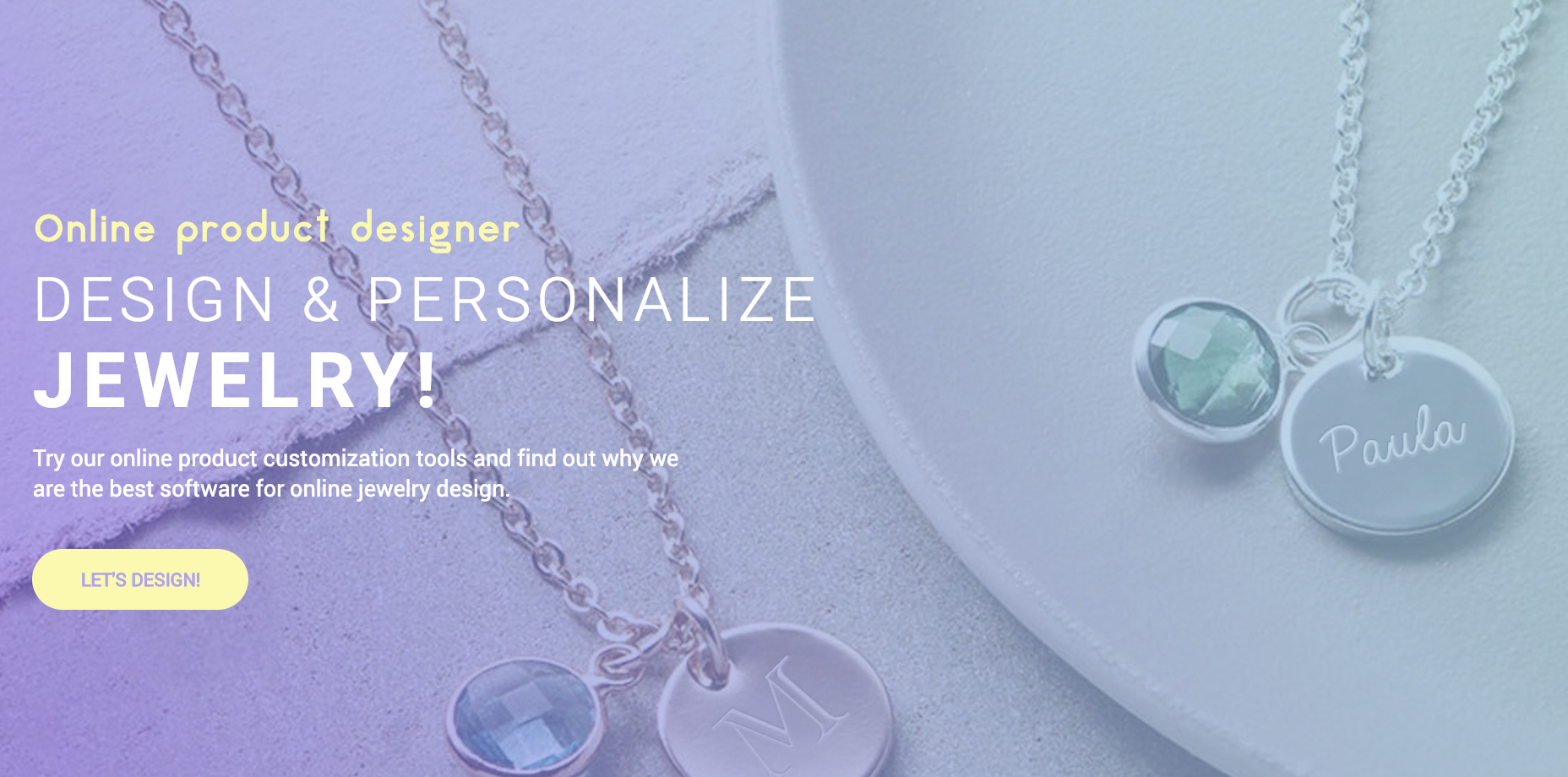 Online jewelry design software - Create personalized jewelry