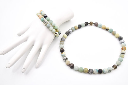 St. Tropez Amazonite Bracelet and Choker Necklace Indulgance