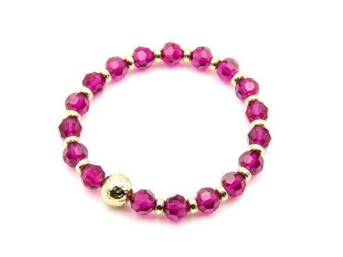 Ruby & 14K Yellow Gold Bracelet