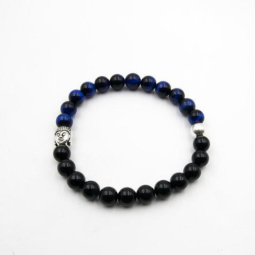 REBEL Black & Blue Tiger Eye Bracelet
