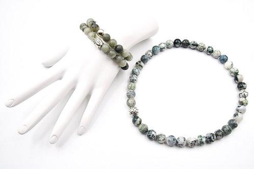 Green Zen Magic Bracelet & Choker Necklace