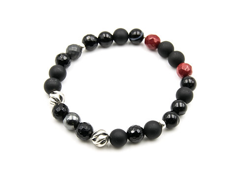 NEW ~ VIPER Bracelet Onyx & Sterling Silver