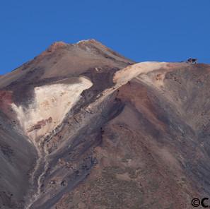 Teneriffa - Gipfel El Teide mit Bergstat