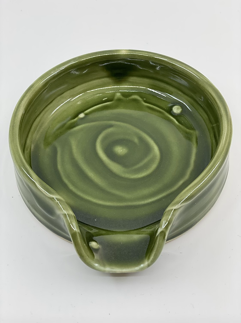 Emerald Textured Spoon Rest