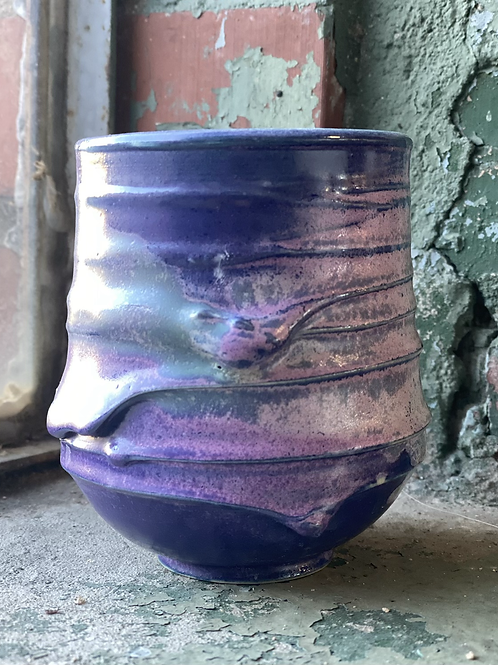 Seaglass, Pink and Purple Tidal Whiskey Cup