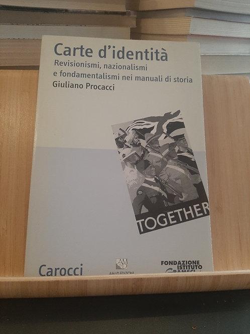 Carte d'identità, Giuliano Procacci, Carocci 2005