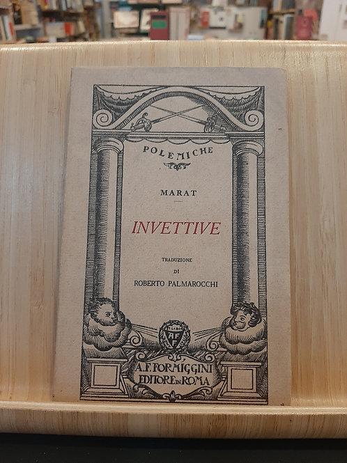 Invettive, J.P.Marat, Formiggini 1926
