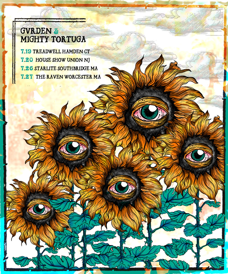 GVRDEN & Mighty Tortuga Tour Flyer