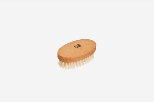 Kindermassageborstel, ovaal, beuken, zachte haren