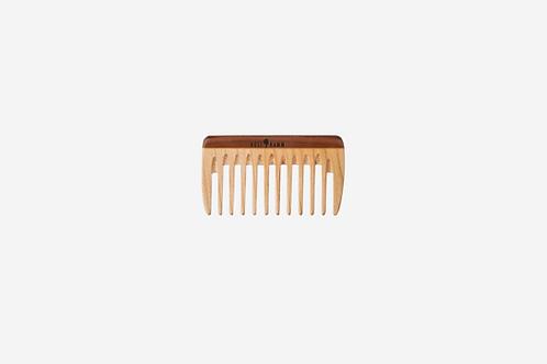 Mini-pocket-kam, hout, gekleurd, breed, 9 cm voor in handtas
