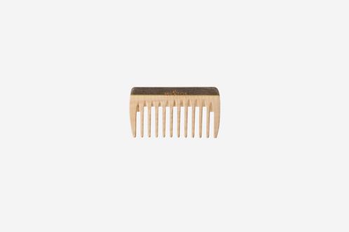 Kleine houten kam met brede tanden voor in de handtas 9cm