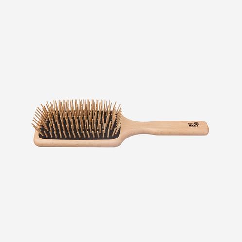 Haarborstel met houten haartjes
