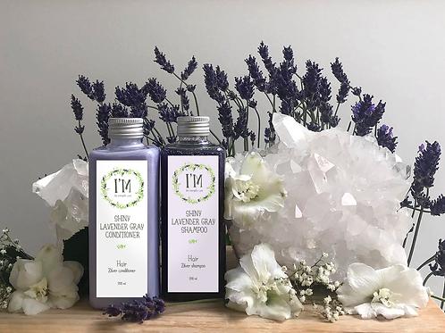 Shiny lavender gray conditioner