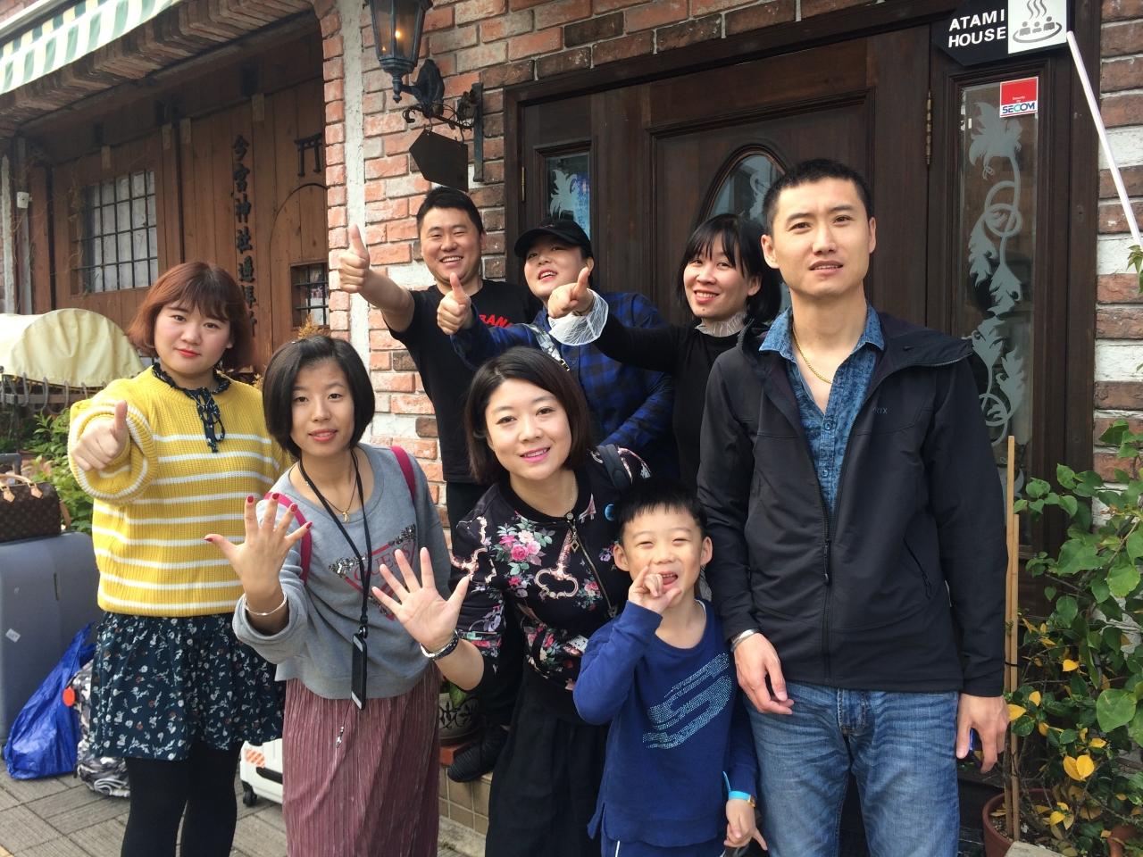 中国から3家族一緒に遊びに来ました