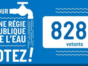 Pour une Régie publique de l'eau, c'est maintenant. Votons.